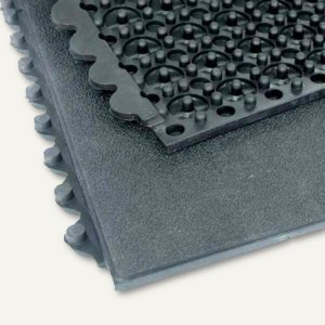 Arbeitsplatzmatte Yoga Industrie - 900 x 900 x 17 mm, erweiterbar, Kautschuk, 16