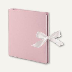 Fotoringbuch mit Schleife, 50 Seiten, 230 x 210 mm, rose, 2er Pack, 13161150006