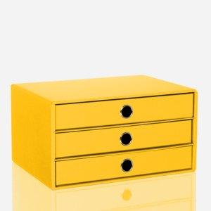 Rössler S.O.H.O. 3er Schubladenbox DIN A4, sun, 1524452433