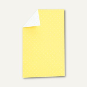 CANDY BAR Einzel-Karte, 108x158mm, 250 g/m², lemon / weiß, 25 St., 16441021224