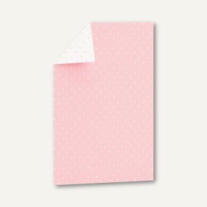 CANDY BAR Einzel-Karte, 108x158mm, 250 g/m², softrosé / weiß, 25 St., 1644102122