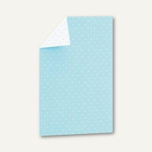 CANDY BAR Einzel-Karte, 108x158mm, 250 g/m², aqua / weiß, 25 St., 16441021228