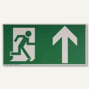"""Hinweisetikettfolie - """"Rettungsweg nach oben"""", 148x297 mm, nachleuchtend, 245188"""
