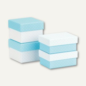 CANDY BAR Miniboxen, 2x 68x68x52mm + 2x 61x87x40mm, aqua, 4er Set, 13531228999