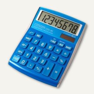 Citizen Taschenrechner CDC-80, 8-stellig, Batterie & Solar, hellblau, CDC-80LB