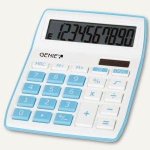 GENIE Tischrechner 840B, 10-stellig, 13.4 x 7.3 x 1.5 cm, blau/weiß, 12260