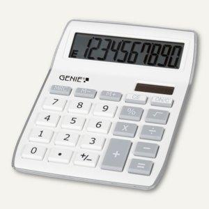 GENIE Tischrechner 840S, 10-stellig, 13.4 x 7.3 x 1.5 cm, silber/weiß, 12262