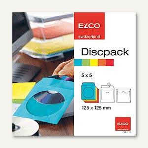 CD/DVD-Taschen, 125 x 125 mm, 100 g/m², farblich sortiert, 25 Hüllen, 74641.00