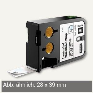 Dymo XTL Etiketten Vinyl, schwarz/weiß, 28 x 39 mm, 450 Stück, 1868708
