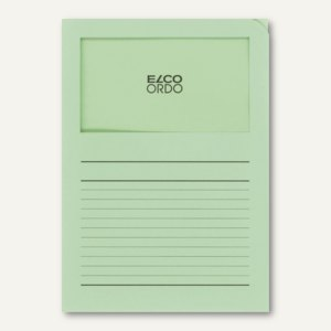 Orgamappe Ordo classico - DIN A4, Sichtfenster, Papier, grün, 100St., 29489.61