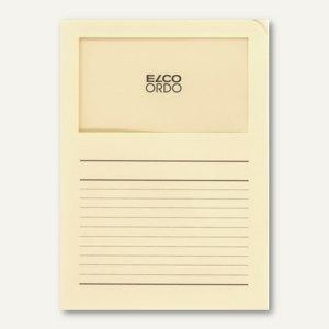 Orgamappe Ordo classico - DIN A4, Sichtfenster, Papier, hellchamois, 100St., 294