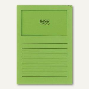 Orgamappe Ordo classico - DIN A4, Sichtfenster, Papier, intensivgrün, 100St., 29