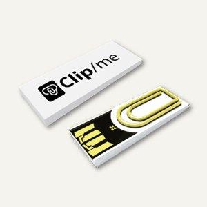 Xlyne USB-Stick Clip/me, mit Büroklammerm, 16 GB, weiß, CM16IW000