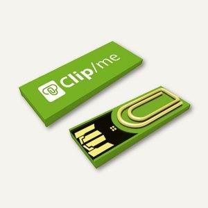 Xlyne USB-Stick Clip/me, mit Büroklammerm, 16 GB, grün, CM16HG000