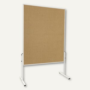 Moderationstafel U-Act! Line, 1.200x1.500 mm, (H)1.9 m, Jute, braun, MT9009