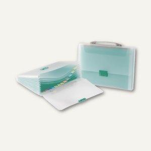 Tarifold Fächertasche DIN A4, 13 Fächer, grün, 5 Stück, 511305