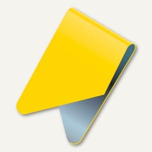 Exacompta Signalreiter / Sattelreiter, Metall, gelb, 100 Stück, 137904B