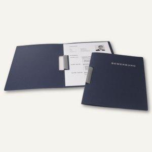 Bewerbungsmappe Clip S Karton, 2-tlg, A4, 320 g/qm, Druck, stahlblau, 20281.016