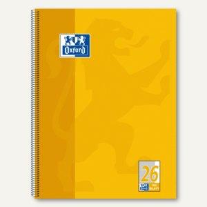 Collegeblock DIN A4+, kariert, 90g/m², 80 Blatt, Rand rechts, gelb, 100050356