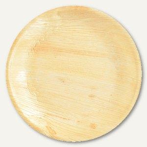 """Papstar Einweg-Teller Palmblatt """"pure"""", rund, Ø 23 cm, Höhe 1.5 cm, 100, 85503"""