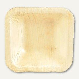 "Papstar Einweg-Schalen Palmblatt ""pure"", eckig, 2.2 x 8 x 8 cm, 250 Stück, 85507"