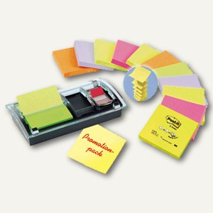 Post-it Z-Notes Promo-Pack, Z-Notes + Spender + Post It Index, DS100-VP