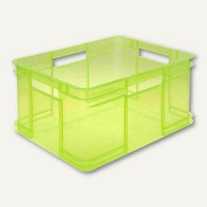 Aufbewahrungsbox - 28 Liter, 430 x 350 x 240 mm, PP, grün-transparent, 154532780