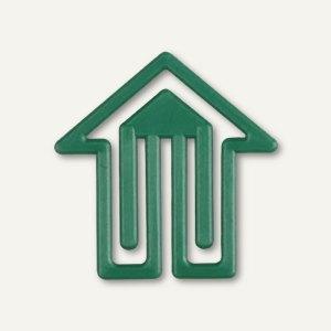 "BIO-Kunststoff-Büroklammern ""Pfeil"", dreieckig, 30 mm, grün, 100 Stück, 1492-66"