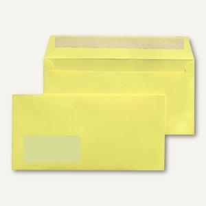 MAILmedia Briefumschlag C6/5, 114x229 mm, mit Fenster, hellgelb, 25 Stück,227621