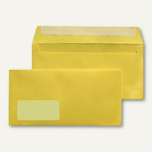 MAILmedia Briefumschlag C6/5, 114x229 mm, mit Fenster, gelb, 25 Stück, 227611