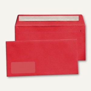 MAILmedia Briefumschlag C6/5, 114x229 mm, mit Fenster, rot, 25 Stück, 227614