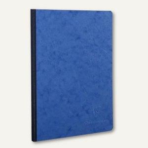 Kladde AgeBag - A5, kariert, 90 g/qm, Karton/Lederstruktur, blau, 96 Bl., 795424