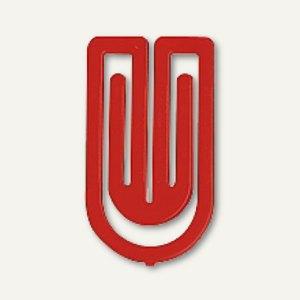Laurel Kunststoff-Büroklammern King Klips, 32 mm, rot, 200 Stück, 1392-20