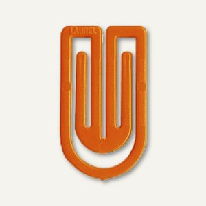 Laurel Kunststoff-Büroklammern King Klips, 32 mm, orange, 200 Stück, 1392-50