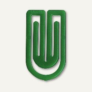 Laurel Kunststoff-Büroklammern King Klips, 32 mm, grün, 200 Stück, 1392-60