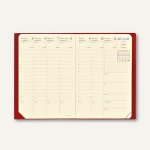 "Quo Vadis ""Geschäftbus Prestige Habana"" Terminkalender - 10 x 15 cm, rot,285014Q"