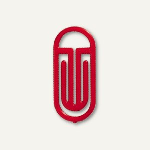 Kunststoff-Büroklammern Bogen King Klips, 25/30 mm, rot, 100 Stück, 1372-20