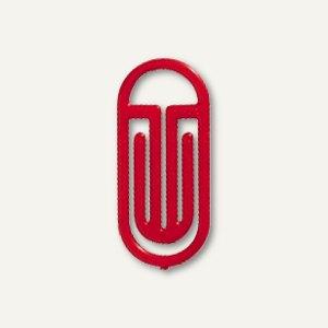 Kunststoff-Büroklammern Bogen King Klips, 30/38 mm, rot, 100 Stück, 1362-20