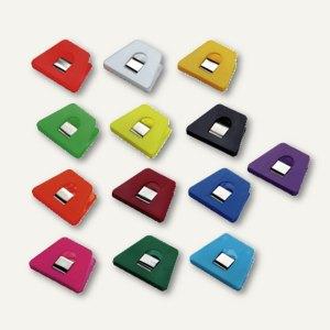 Briefklemmer SIGNAL 2, 70 x 50 mm, 13 mm Klemmweite, farbig sortiert, 100er Pack