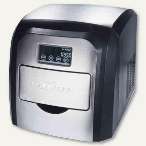 Eiswürfelbereiter PC-EWB 1007 für 10-15 kg Eis, edelstahl/schwarz, 501007