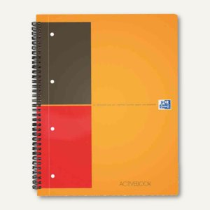 International Collegeblock Activebook liniert A4+ versetzbares Register 80Bl.