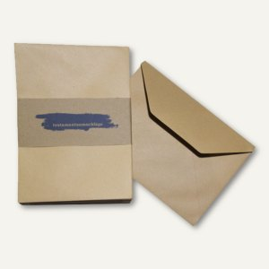 Testamentsumschläge - DIN C5, blanko, nassklebend, 130 g/m², braun, 50St., 22201