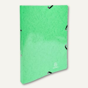 Ringbuch mit Gummizug A4, 2 Ringe, 20 mm Rückenbreite, Karton 600 g/m², zitrusgr