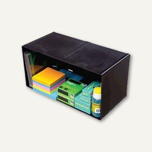 Organiser-System CUBE, Cube doppelt, 30.5 x 15.2 x 15.2 cm, schwarz, 350504