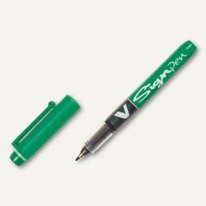 Pilot Faserschreiber V Sign Pen, Strichstärke 0.6 mm, grün, 143687
