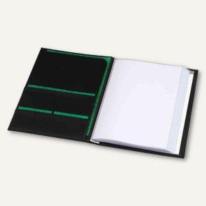 "Präsentations-Sichtbuch ""Ambassadeur"" - A4, 80 Hüllen, Kunstleder, schwarz, 9808"