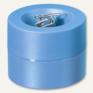 MAUL Klammernspender - (Ø)73 x (H)60 mm, magnetisch, hellblau, 3 Stück, 3012334