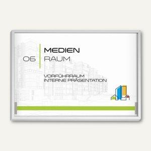 MADRID Silver Line Türschild, DIN A6 quer, 105.5 x 150.5 mm, 3 Stück, I2516S