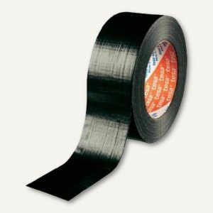 Tesa Verpackungsklebeband 4104, PVC, 50 mm x 66 m, schwarz, 04104-00081-00