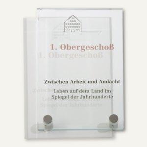 officio GALERIE Türschild, 100 x 160 mm, ESG-Scheiben, 3 Stück, I7723E4S